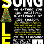Song Sale Dunedin - December 2012 poster